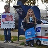 Photo #7 - Mail Carrier and Postage Stamp