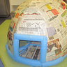 Photo #8 - 1st layer of papermache with foam noodle