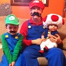 Photo #1 - Luigi (Clark), Mario (JR), and Toad (Chloe)