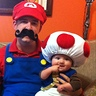 Photo #3 - Mario (JR) and Toad (Chloe)