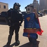 Photo #2 - Meeting with friends downtown for a walkabout. (I created superman last year in this pic)