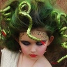 Photo #2 - A close up of Medusa and her slithering snakes!