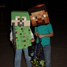 Photo #6 - my son (green) with his friend in a store-bought Minecraft costume