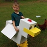 Photo #1 - Our Minecraft Chicken hanging around with our flock of chickens