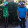 Photo #3 - Minecraft Steve and Creeper