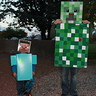 Photo #1 - Minecraft Steve & Creeper