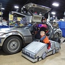 Photo #3 - Mini Marty and the real DeLorean.
