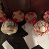 Photo #5 - How they looked before another layer of paper mache, painting, and fabric
