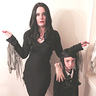 Photo #1 - Morticia and Wednesday Addams with Thing
