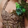 Photo #3 - Wood inspired bodice with bark and moss/ textured skirt and old mans beard
