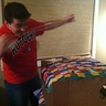 Photo #3 - My husband in the process of making the pinata