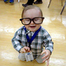 Photo #1 - Laughing cute nerd baby