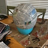 Photo #6 - The start of dry bowser mask, paper mache around balloon