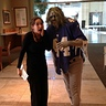 Photo #4 - Giants zombie with a coworker in the bank lobby