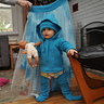 Photo #2 - Octopus 'babylegs', fleece and hat while using circle water skirt as a backdrop