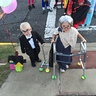 Photo #1 - left is emory carl from up right is paxton dressed as a little old lady
