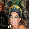 Photo #6 - Peacock Showgirl  - Headdress, Feather Eyebrows, and make-up.