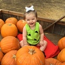 Photo #1 - Sitting with the pumpkins