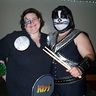 Photo #2 - Peter Criss and drumset with drumsticks