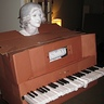 Photo #1 - Player piano with 18th century bust: final costume