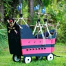 Photo #7 - Homemade, custom built Jolly Roger Wagon Pirate Ship.