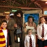 Photo #2 - Harry, Ron, Hermione, Hagrid, the Password Lady and our muggle.