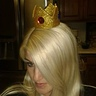 Photo #3 - testing my crown placed on the headband for a comfortable fit