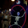 Photo #10 - hard to see and get a pic of, but the skeleton glows in the dark and black light