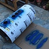 Photo #3 - Painted front pattern/ hole cutouts for vents.