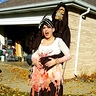 Photo #1 - fullview of picture before trick or treating and realizing I DONT fit in the car