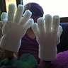 Photo #3 - Foam hands ready for coloring