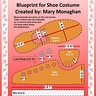 Photo #2 - This is a blueprint I created for my costume. It contains names of the shoe parts and measurements