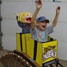 Photo #1 - Eli Fearlessly riding the Phoenix Roller Coaster