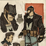 Photo #4 - Greaser/Rockabilly Batman drawing