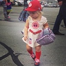 Photo #1 - Sawyer is in a 'league of her own' in her Rockford Peach uniform