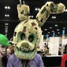 Photo #2 - An updated version of my previous springtrap costume. It consists of a foam head base with plastic and metal beams for support on the ears with another mask inside of it. The costume uses nuts and bolts to make the jaw open and close.