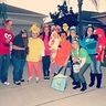 Photo #1 - L to R: Elmo, Snuffleupagus, Big Bird, Telly Monster, Rubber Ducky, Ernie, Bert, Rosita, Oscar the Grouch, Cookie Monster, Elmo (again), Abby Cadabby, Zoe, and Super Grover!