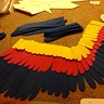 Photo #5 - Wing under construction with feather layout