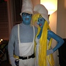 Photo #2 - Smurfette and Handy Smurf (who unfortunately lost his pencil)
