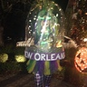 Photo #2 - New Orleans at night, with lit up decorations on the Mardi Gras girl