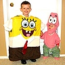 Photo #2 - Here is Brian/SpongeBob,with his brother dressed as Patrick Star