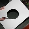 Photo #4 - Cutting a Hole in the Foamboard for the Table