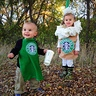 Photo #1 - Mack the barista (age 1) & Molly the caramel frappuccino (age 2)