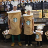 Photo #1 - Wearing the costumes at our local Starbucks!