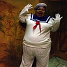 Photo #1 - Out on the town in the Stay-Puft Marshmallow (Wo)man Costume