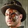 Photo #3 - My  hand made leather Steampunk mask