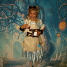 Photo #4 - Alice with her 'Drink Me' bottles and homemade White Rabbit