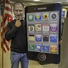 Photo #1 - The infamous Steve Jobs with mega iPhone/iPad