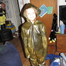 Photo #3 - The dino suit. She really wanted a hood a hood on it, but it didn't need one.