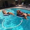 Photo #4 - Dad and his friends relaxing in the pool